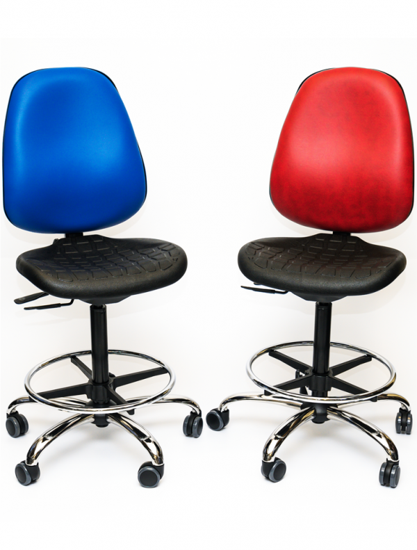 Production chair PU seat, vinyl back