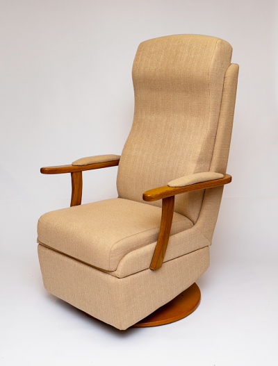 Domestic chair Queen Anne Made to measure with swivel and tilt