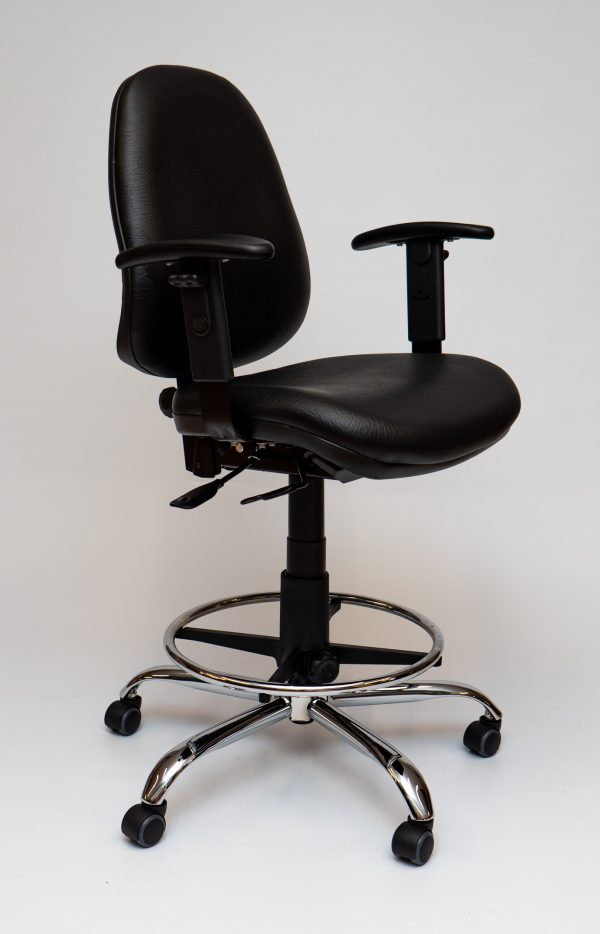Jacobsen Production Chair High Vinyl Arms