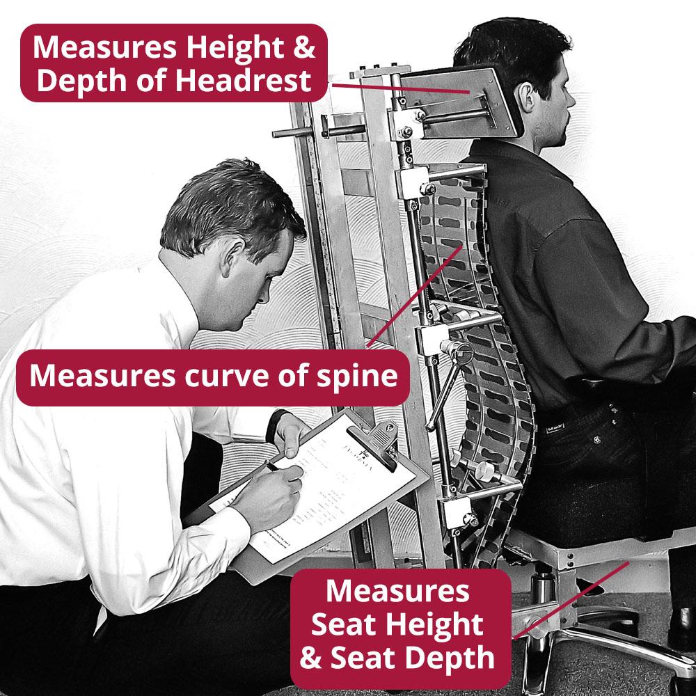 Joe Jacobsen's Jacobsen back measuring device